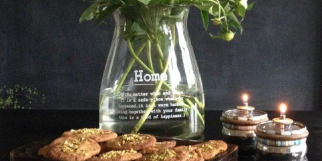 Cookies med hvid cholokade og lakrids