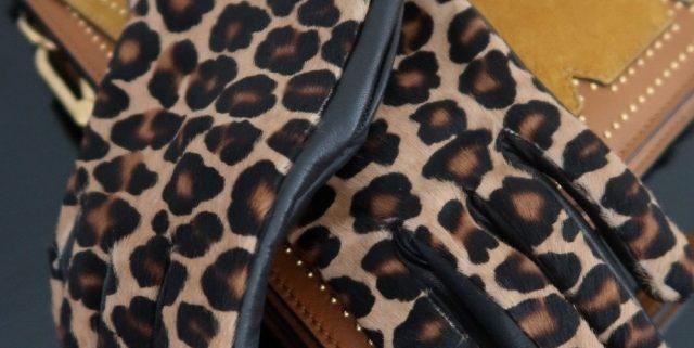 Herresko og leopardhandsker!