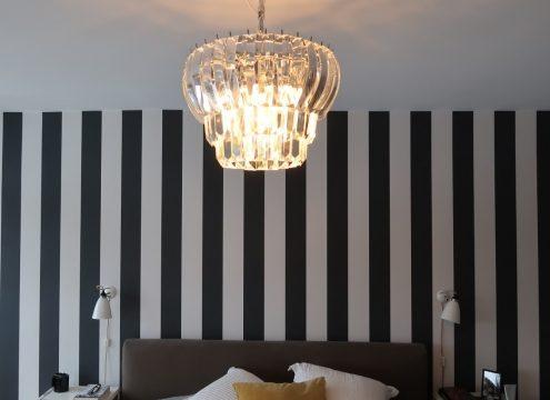 Ny lysekrone i soveværelset