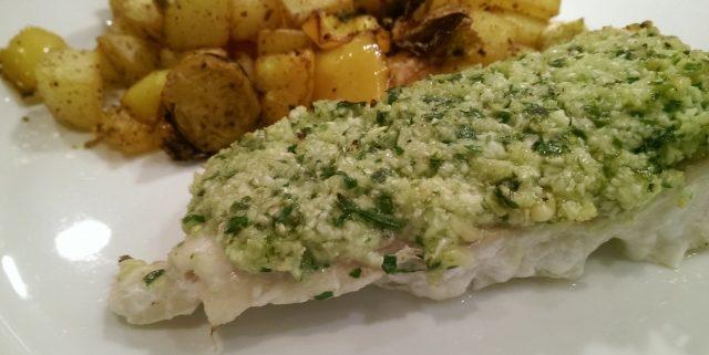 Ovnbagt torsk med blomkålstopping