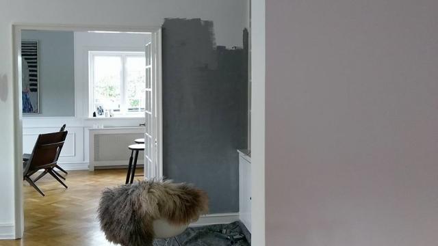 Så kom der farver på væggene!