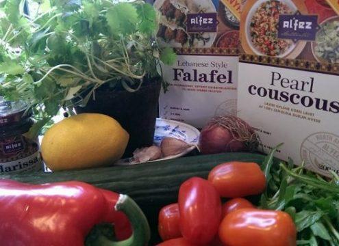 Snyde-falafler og perle couscous