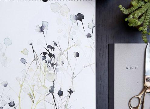 VIND! 12 Flowers Calendar af Toril Bækmark til dig og en ven!