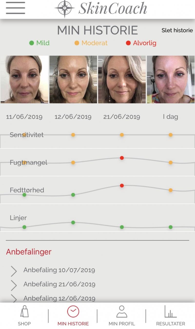 SkinCoach hudscanner app