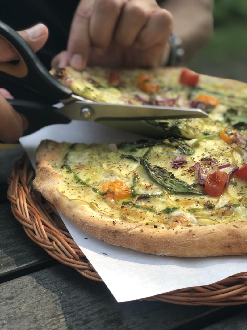 Pizza på Pumpans Cafe