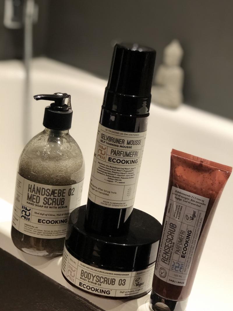 Ecooking scrubs og selvbruner