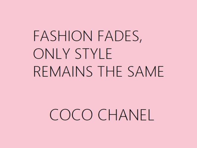 Mode forgår stil består