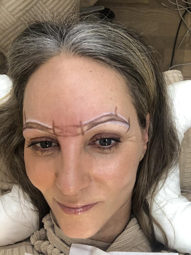 Optegning til permanent øjenbryn makeup