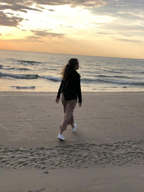 Løkken Strand i solnedgang