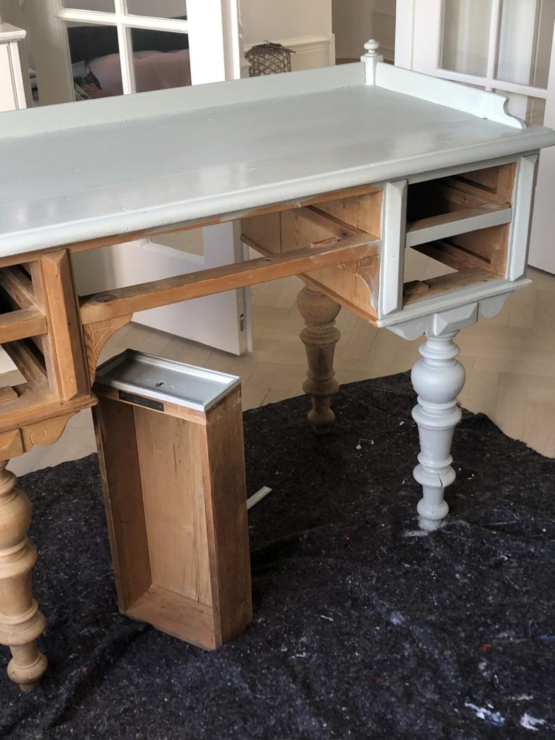 Maling af gammelt skrivebord