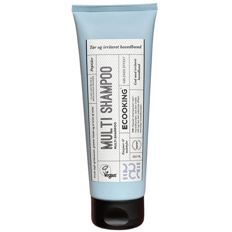 Multi shampoo fra Ecooking er god mod tør hovedbud