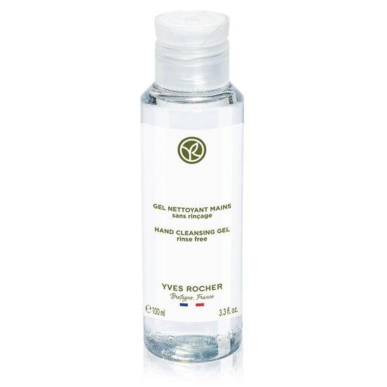 Yves Rocher Hand Cleansing Gel indeholder 70% sprit og glycerin, der giver huden fugt