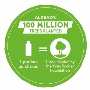 Yves Rocher har rundet de første 100 millioner træer, som de planter rundt om i verden.