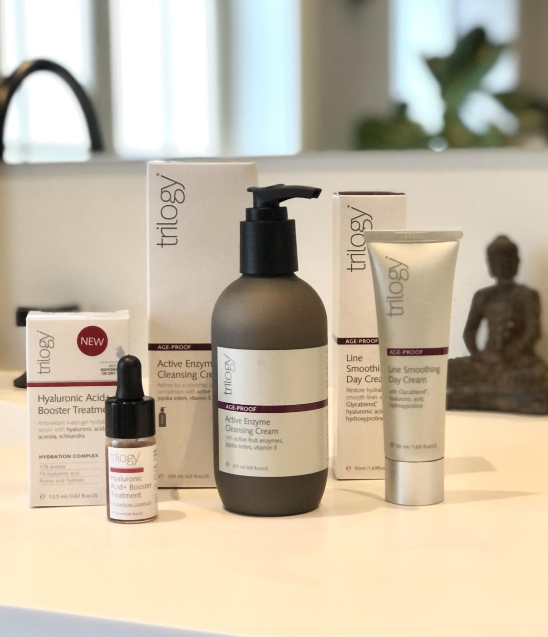 En effektiv hudpleje til moden hud fra det naturlige mærke Trilogy.