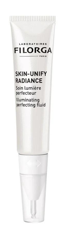Filorga Skin-Unify Radiance fremhæver ansigtets udstråling konturer ved at optimere lysrefleksionen.