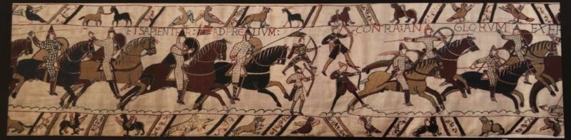 Et udsnit af Bayeux-tapeterne.